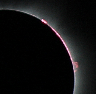 Total Solar Eclipse - 21 Aug 2017 - Bailey's Beads & Prominence